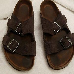 Birkenstock charcoal suede sandals .. 8.5/9